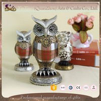 2017 new design 3D colorful owl resin modern home decoration
