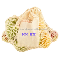 2016 Wholesale Simple Ecology Organic Cotton Mesh Produce Bag