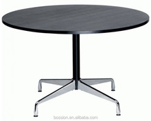 Replica aluminium group conference wooden round tables