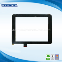 Eco Friendly digital 8.0 inch Capacitive Touch Screen Panel 1.0 Pitch 10PIN