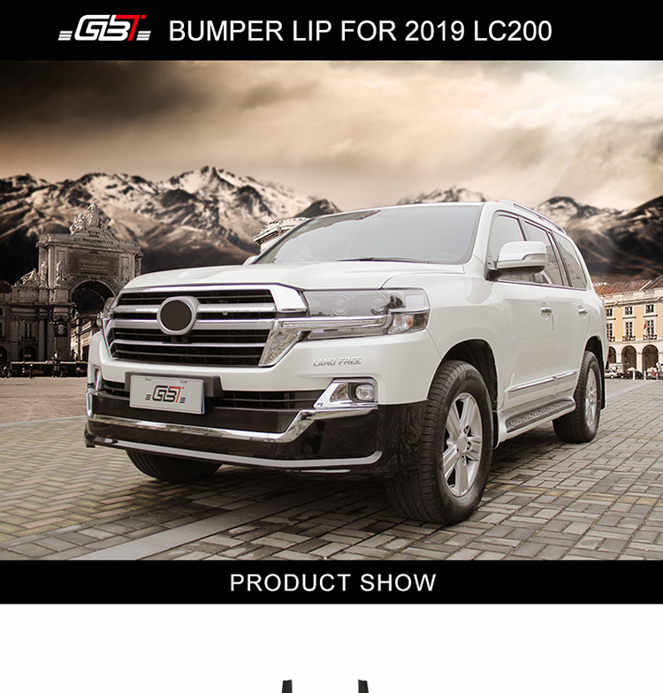 GBT auto parts include front and rear bumper lips middle grille with chrome trim mudguard body kit for Land Cruiser 2019 LC200