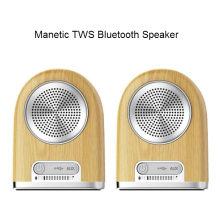 Newest V4.2 10W wireless magnetic portable TWS bluetooth speaker with mic
