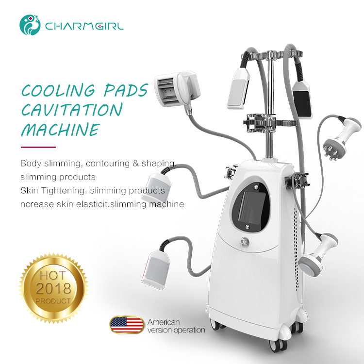 Fat freezing vibration multipolar RF slimming weight loss machine