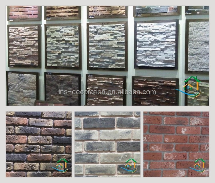 Waterproof faux stacked stone