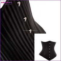 Black Tight Lacing Up Steel Corset Busk Burn Fat Abdominal Corset