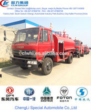 dongfeng brand water spraying fire truck,8 cbm inflatable fire truck