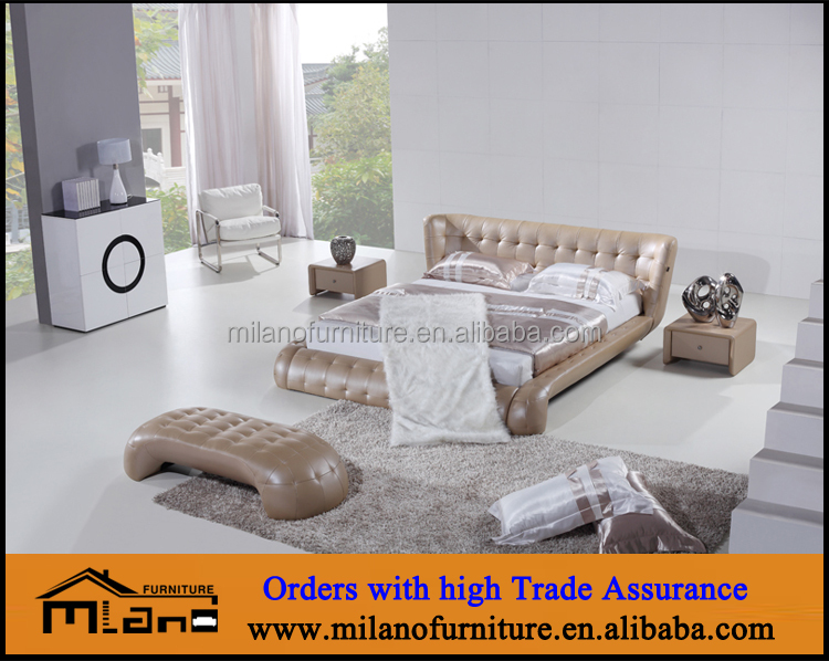 luxury bedroom furniture bed leather