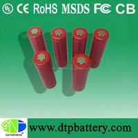 china made rechargeable li ion battery 18650 3.7v 2200mah for toy, small home appliance