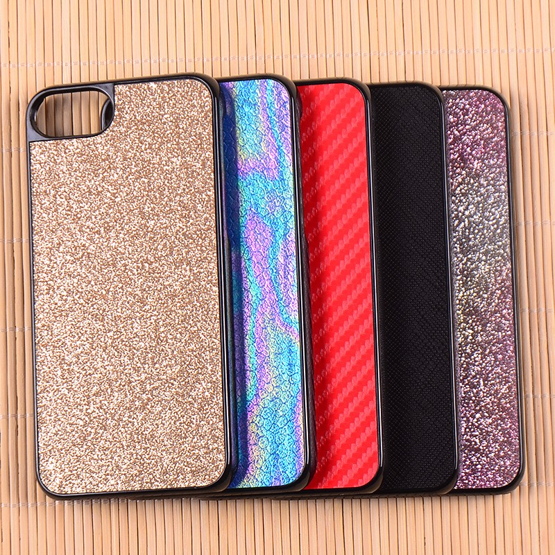 PC Bottom Phone Case With Creative Custom Glitter Sticker Back Cover For iPhone 7