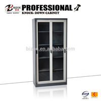 knock down school glass sliding library cupboard