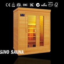 american far infrared sauna room for 3 persons with ceramic heater