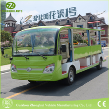 Suitable price 23 seater beautiful design sightseeing car electric shuttle bus