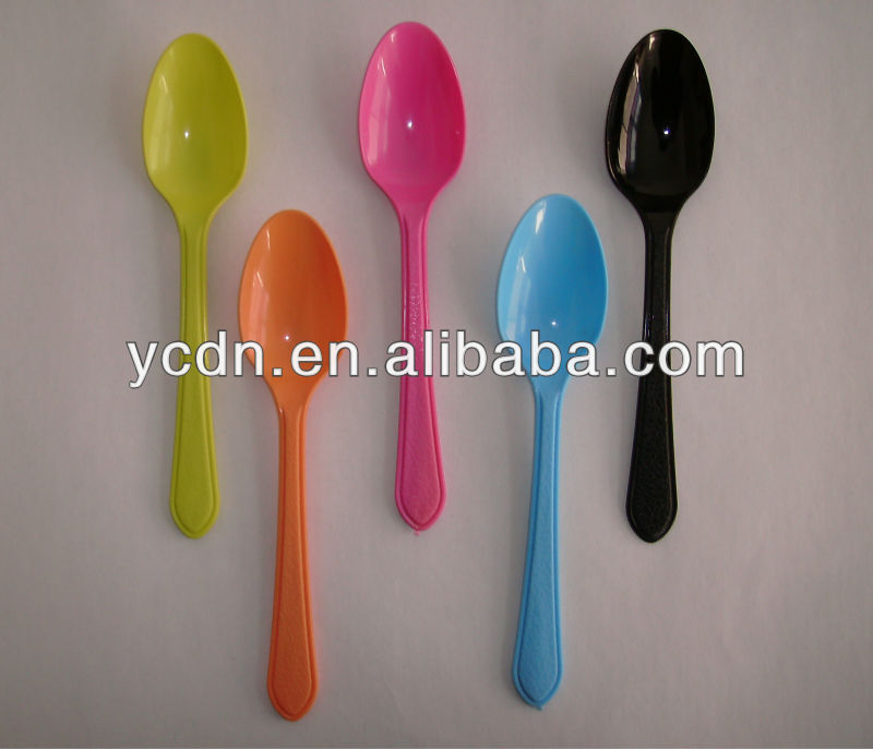 disposable ice cream bowl and colored plastic ice cream scoop spoon set