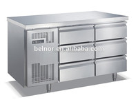 TCO.3N6W / Commercial Work Top Refrigerator with 6 Drawers/ Stainless Steel Refrigeration Work Top Table