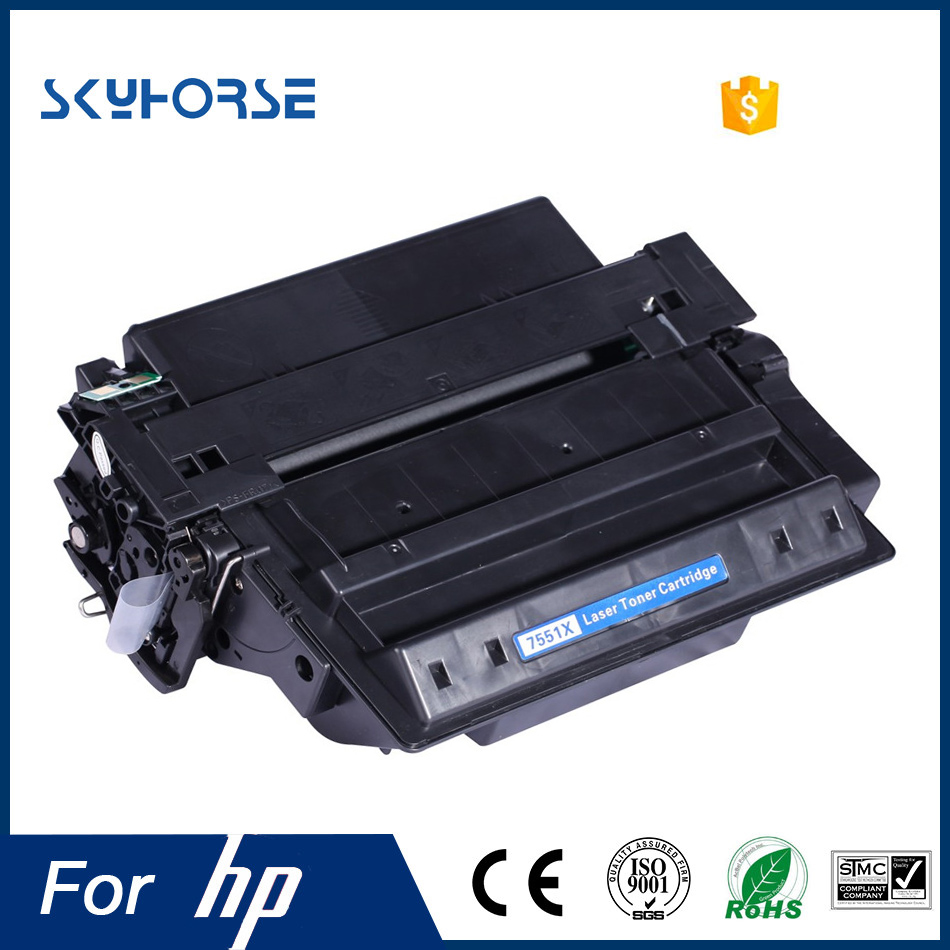 High quality black compatible toner cartridge for HP Q7551A Q7551X