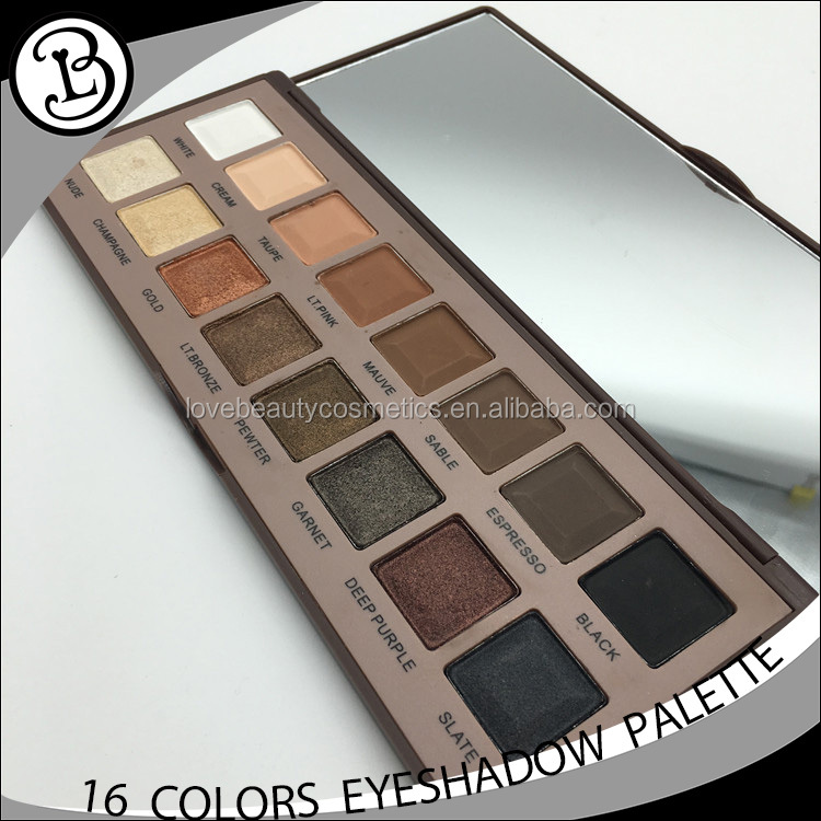 Pro shimmer eyeshadow Palette 16 colors new design private label eyeshadow