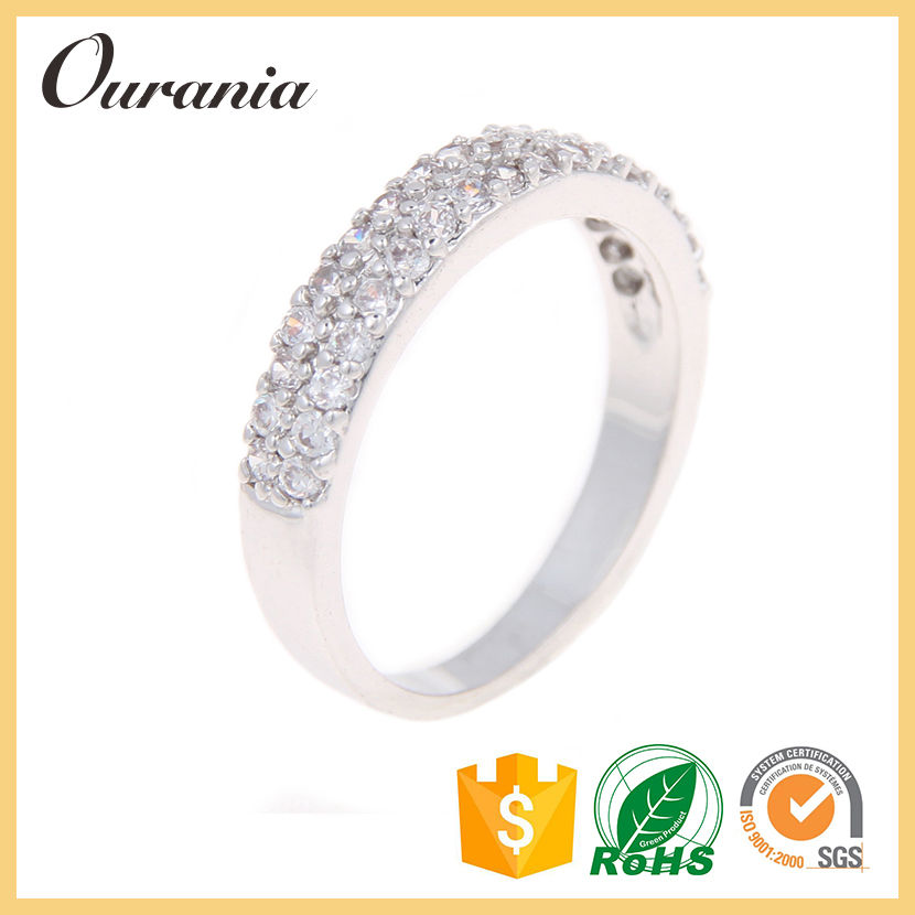 2016 Best Selling Silver Jewelry 5925 Silver Ring Diamond