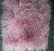 pink Mongolian sheep fur skin long haired sheep fur skin