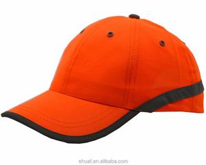 6337c8cdcc3 6 panel metal eyelets neon orange reflective with stripe safe cap