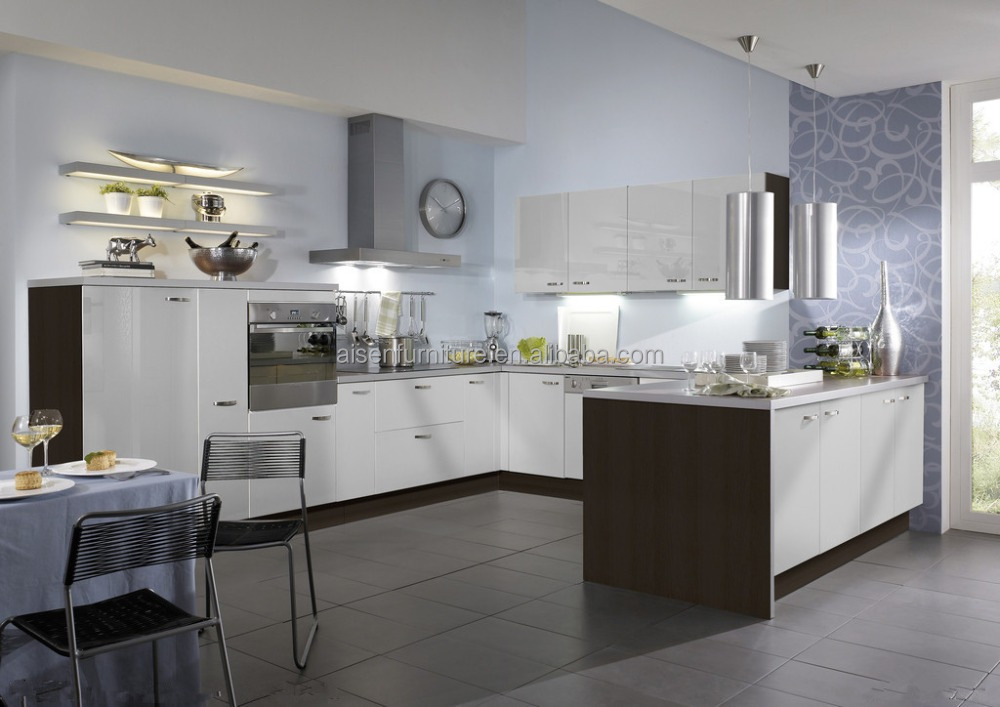 Customized modern style used kitchen cabinets pvc membrane for Useful kitchen cabinets