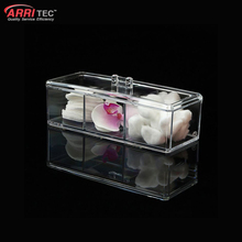 clear cosmetic plastic box acrylic makeup display case with compartment