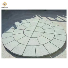 Factory honed compass paving stone with customized thickness