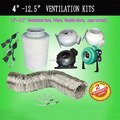 "6"" Ventilation Setup Inline Centrifugal Fan Carbon Filter 6"" Ducting Hydroponics Kit"