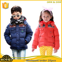 Cheap China Factory Bulk Wholesale Famous Brand Kids Children Clothing Clothes Boys & Girls 80% Duck Down Jacket for Winter USA