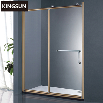 K-14 Aluminum Frame Hardware Material Sliding Good Clear Glass Shower Door