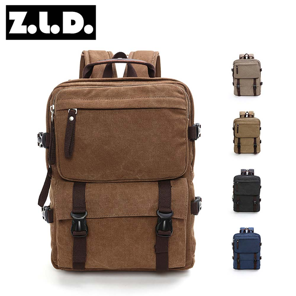 Wholesale Men's canvas handbag double shoulders laptop backpack bag <strong>school</strong>