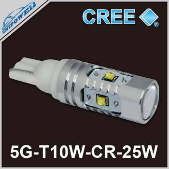 2014 hot sale <strong>cree</strong> 25W 30W T10 car led light,w5w car led lamp, 194 car <strong>cree</strong> led light