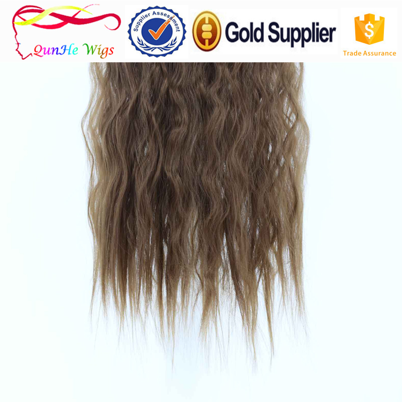 Fashion corn perm clip in hair dreadlock wig 5clips attach hair pieces