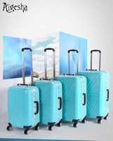 China code lock ABS + PC code lock travel luggage bags with universal silent wheels