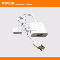 1080P Dock Connector Cable to HDMI USB Charger Adapter for iPhone/iPad with USB power supply