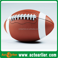 1.6-2.7mm PVC material size #3 American football with rubber bladder