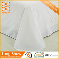 fabric suppliers sale hotel use plain white cotton Fabric for bedding