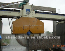 Automatic bridge block cutter quarry stone block cutting machine