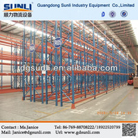 Double Deep Storage Steel Pallet Stacking Racking System