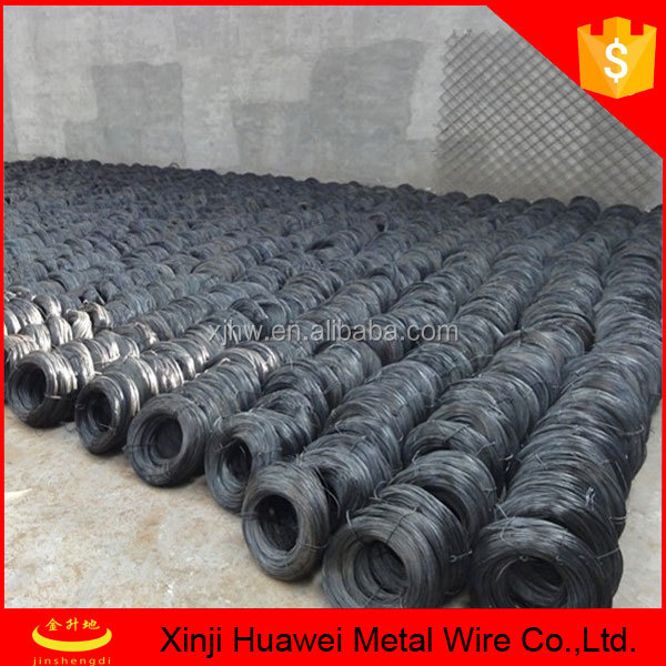 Nail making strong quality 10 gauge black annealed tie wire