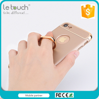 Trade assurance 3 in 1 Ultra Thin Superior PC Hard Protective Ring Holder case for phone