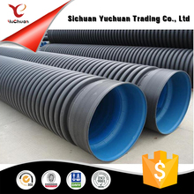 HDPE Double Wall Corrugated pipes for underground sewer
