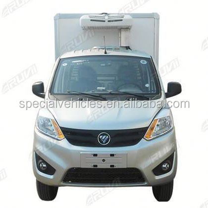 Mini Refrigerated cargo van Vegetable and fish transport Freezer van for sale