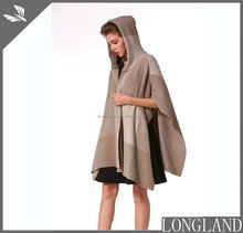 Warm lightweight winter women hooded poncho