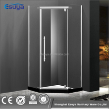 School bathroom use frosted glass shower enclosure with 10mm tempered glass shower room