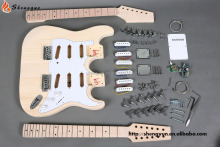 m shengque st models double neck solid wood factory sale guitar kits ,diy guitar