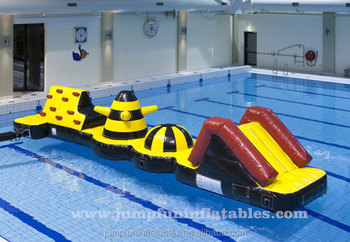 Swimming Pool Games Inflatable Water Wipeout Aqua Obstacle Course Buy Inflatable Water Wipeout