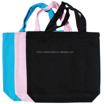 "13""x13""x3"" color 8oz blank cotton twill tote bags 14"" handles and bottom gusset from china factory"