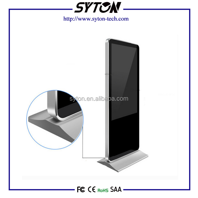42 Inch indoor floor standing lcd led advertising player ,loop video advertising display
