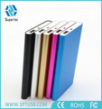 Portable manual gift rohs power bank 6000 mah slim mobile power bank from China suppliers