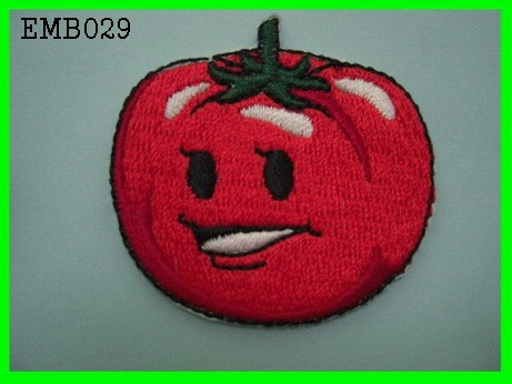 New Red Tomato Embroidery Design Iron - On Patches For Kids ' Handbags